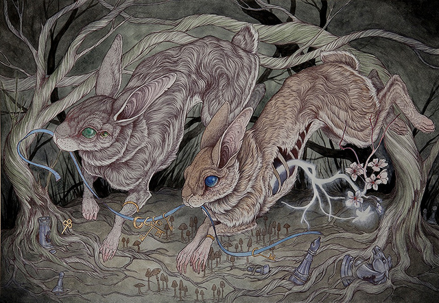 caitlin hackett - two rabbits